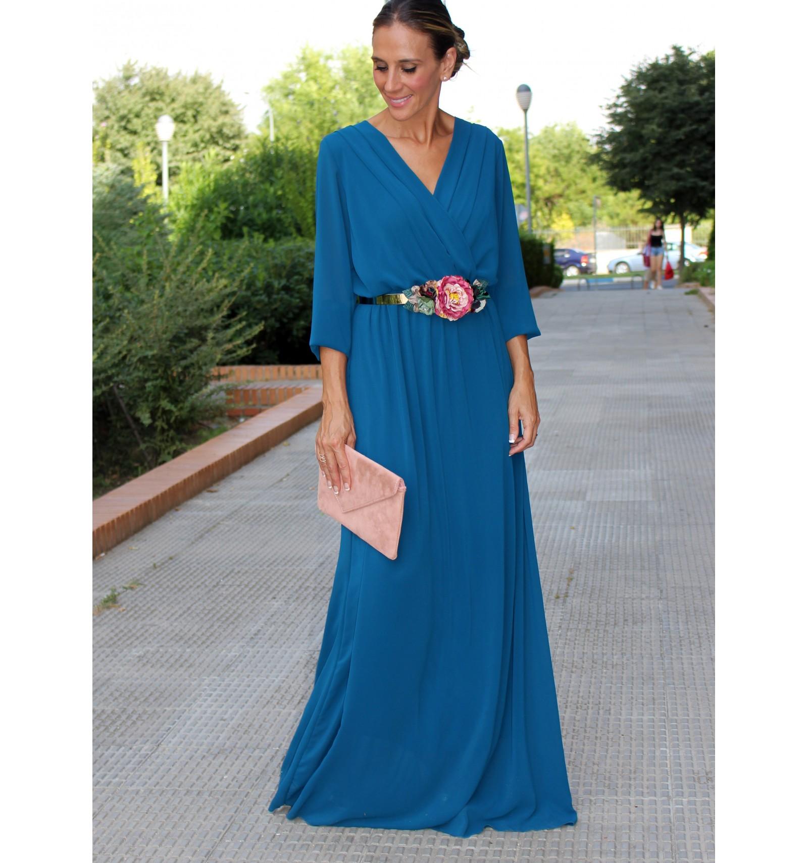 Vestido Largo Fiesta Vestido Gasa Vestido Invitada Perfecta