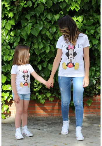 CAMISETA GIRL MINNIE Y MICKEY